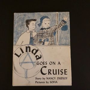 Vtg 50's Kids Book Linda Goes On A Cruise